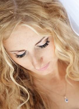 Bruidskapsel blond haar