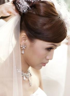 Aziatische bruid bruidskapsel