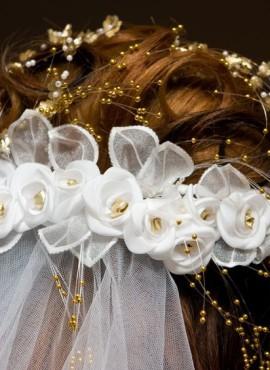 Close-up bruidskapsel