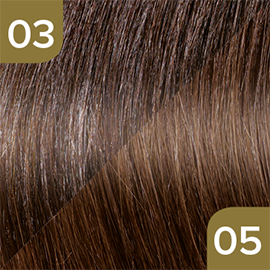 Kleuren Great Lengths Flowstrengen Naturel Bruintint