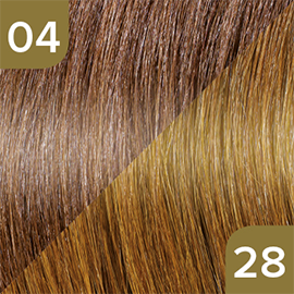 Kleuren Great Lengths Flowstrengen Naturel Bruin Donkerblond