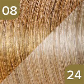 Kleuren Great Lengths Flowstrengen Naturel Donkerblond Lichtblond