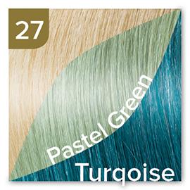 Kleuren Great Lengths Flowstrengen Fashion Turqoise