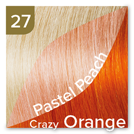 Kleuren Great Lengths Flowstrengen Fashion Crazy Oranje