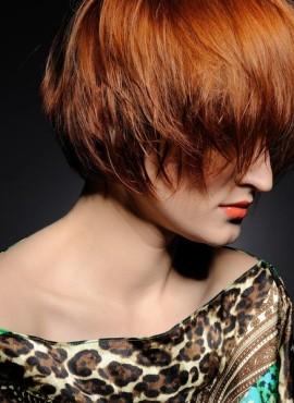 Trendy vrouwenkapsel kort haar